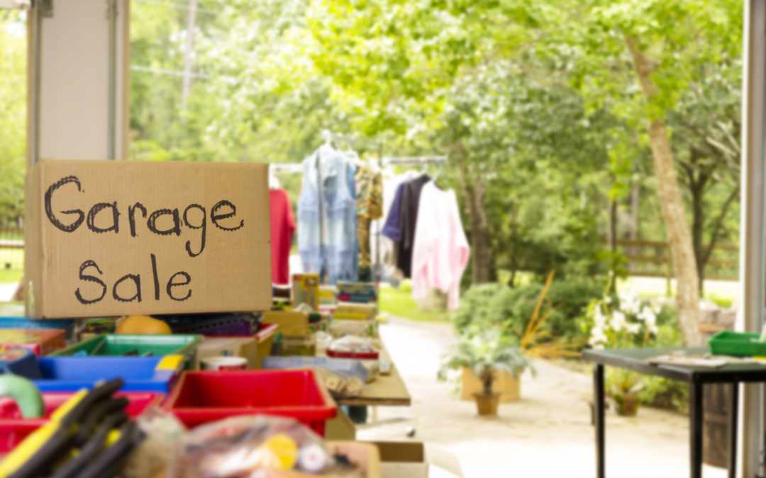 If you're planning a garage sale, don't leave your home open to thieves